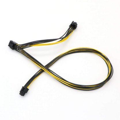كابل 6 پین به 2 سر 8 پین (2+6) PCIE