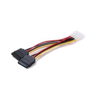 اکثر تبدیل های برق IDE به ساتا تکی دارای کابل ضعیف بوده و احتمال اتصالی و آب شدن سیم و صدمه به هارد و یا دی وی دی رایتر را دارد. این کابل ضخیم بوده و تمام مس می باشد و احتمال اتصالی را به حداقل می رساند. کابل شماره 2 دارای ضخامت بالایی است و بیشتر برای اتصال هارد به کار می رود. enlightened شماره 2 به شکل زیر است: دیجیک | کابل برق ساتا دوبل | کابل برق sata دوتایی | کابل تبدیل برق IDE به sata enlightened شماره 1 به شکل زیر است: کابل تبدیل 1به 2 برق IDE به SATA کابل, تبدیل, برق ,IDE ,به ,SATA ,power,adapter,کابل برق ساتا دوبل,کابل برق sata